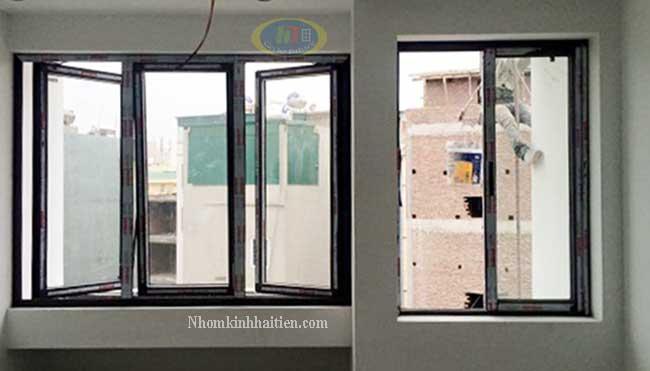 Cửa sổ nhôm Xingfa mở quay thi công tại Vân Đình