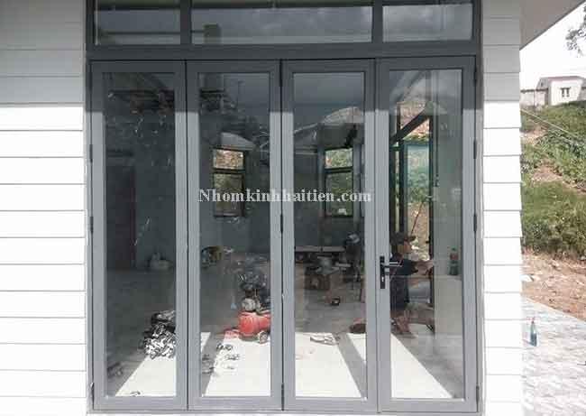 Cửa ra vào nhôm Xingfa nhập khẩu thi công tại Văn Phú