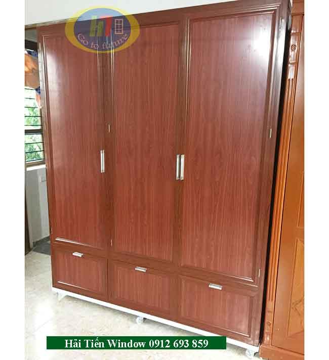 Tủ nhôm kính quần áo đẹp, giá rẻ thi công tại KĐT Thanh Hà