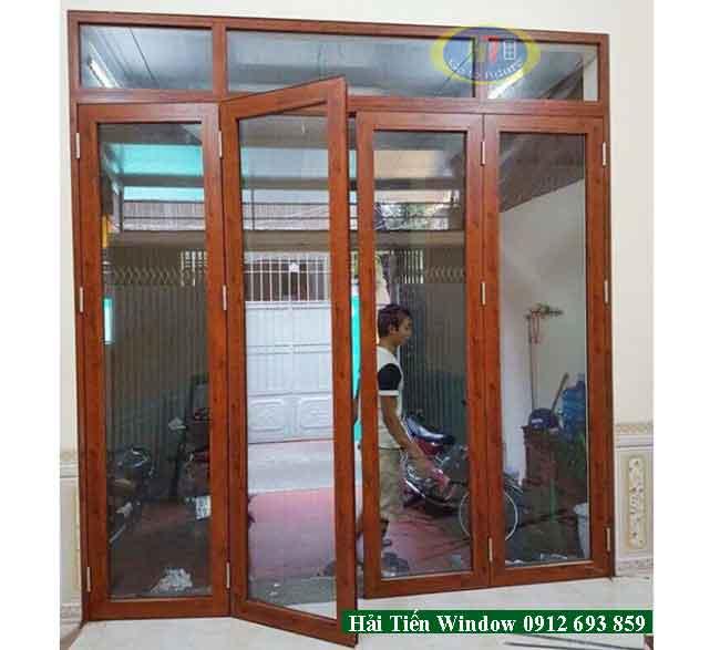 Cung cấp cửa phòng khách nhôm kính vân gỗ cao cấp