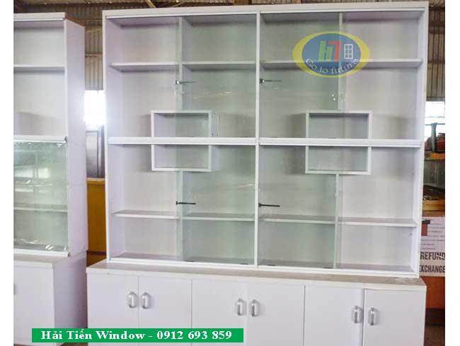 tủ nhôm kính trưng bày bán hàng
