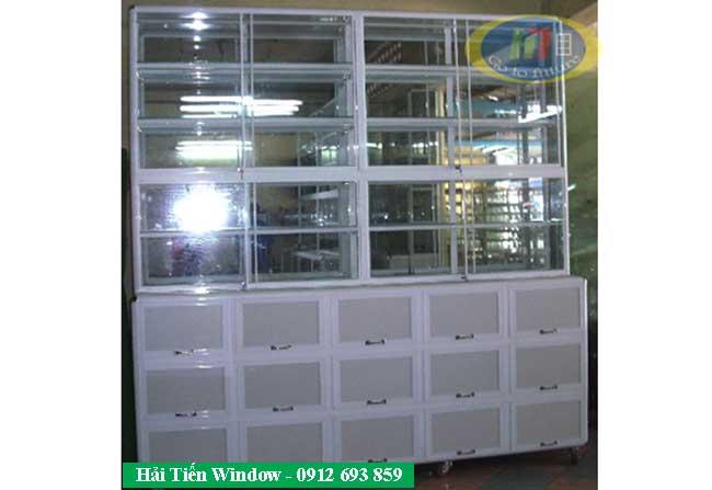 tủ nhôm kính trưng bày sản phẩm
