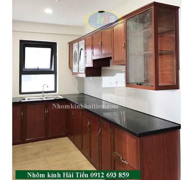 Tủ bếp khung nhôm kính sang trọng giá rẻ hà nội