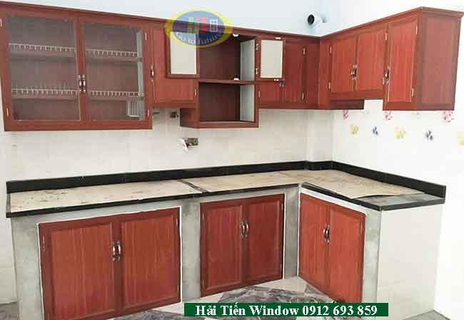 Tủ bếp nhôm kính giá rẻ đẹp cho mọi gia đình