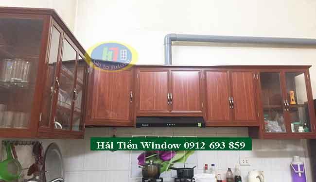 Tủ bếp nhôm vân gỗ giá rẻ tại Hà Nội