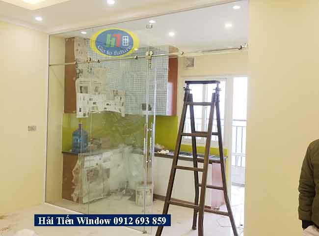 Cửa kính cường lực đẹp giá rẻ thi công tại Khu Đô Thị Thanh Hà