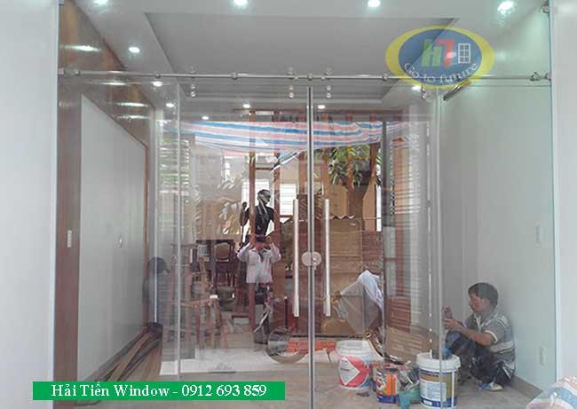 Cửa kính cường lực trượt giá rẻ tại Hàng Bông Hà Nội