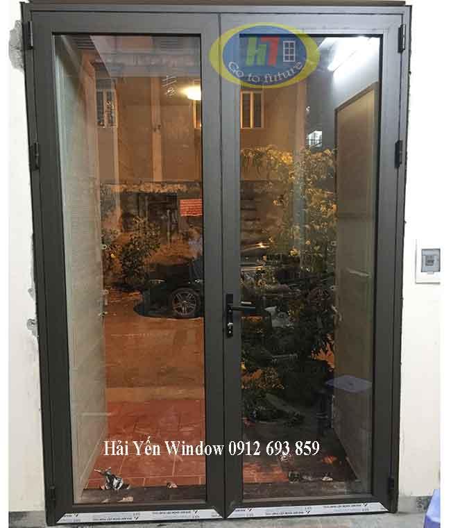 Cửa nhôm kính Việt Pháp 2 cánh giá rẻ