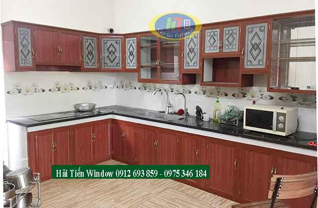 Thiết kế tủ bếp nhôm kính đẹp, tiện nghi
