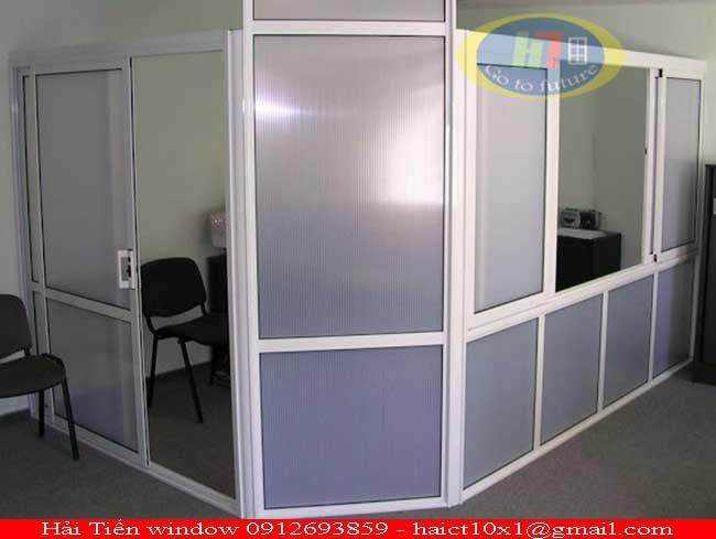 Thi công vách ngăn nhôm kính an toàn cho văn phòng