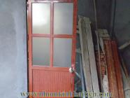 Thi công lắp đặt cửa đi nhôm kính vân gỗ tại nhà chị Nga (Nguyên Xá - Từ Liêm)