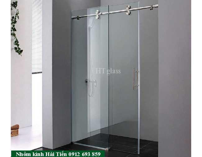 Vách tắm kính cửa mở trượt lùa
