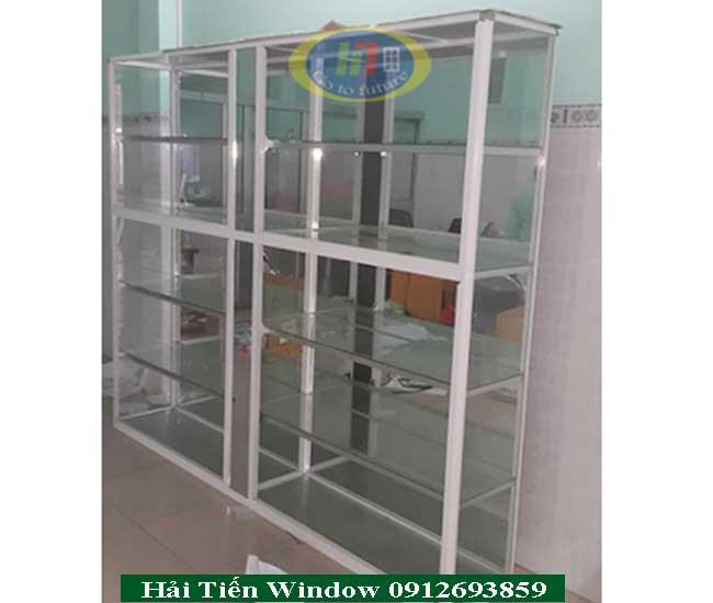 Hình ảnh tủ trưng bày nhôm kính cao cấp tại Hà Nội