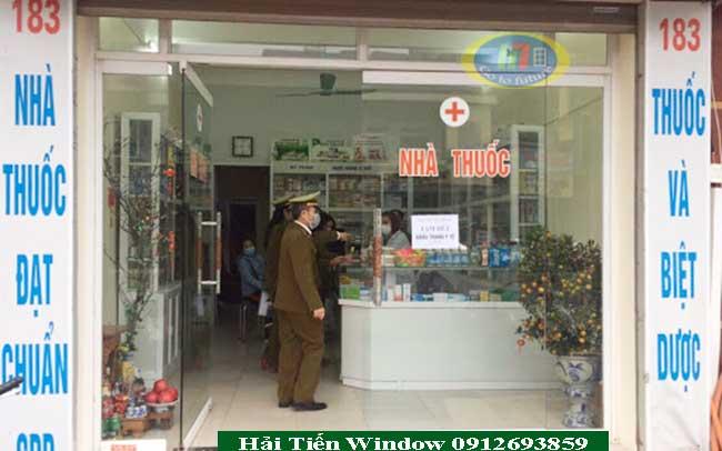 Báo giá cửa kính quầy thuốc tại Hà Nội
