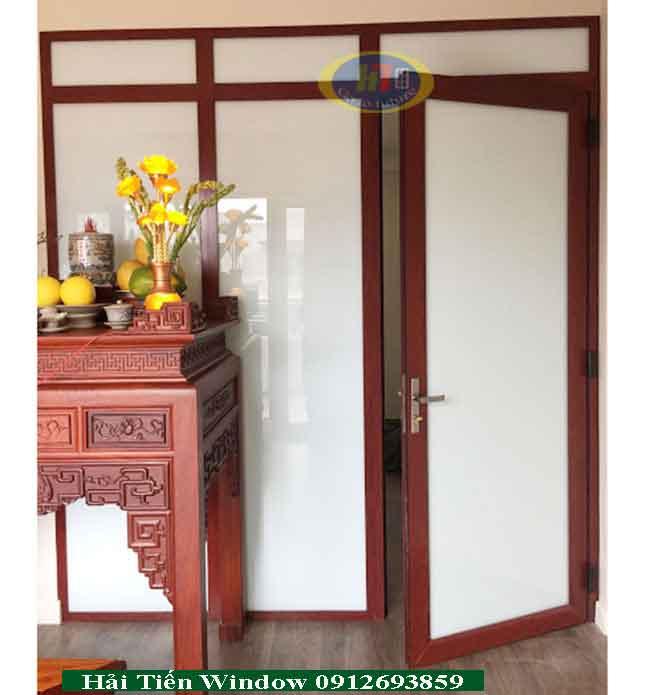 Cửa nhôm vân gỗ hệ Việt Pháp siêu đẹp 2020
