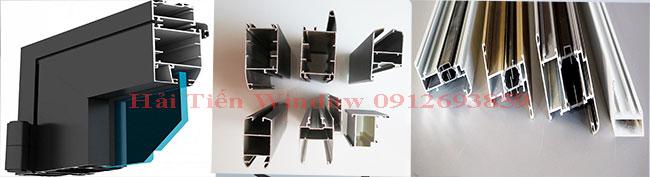 Khung nhôm kính Việt Pháp hệ 4500, hệ 4400, hệ 2600