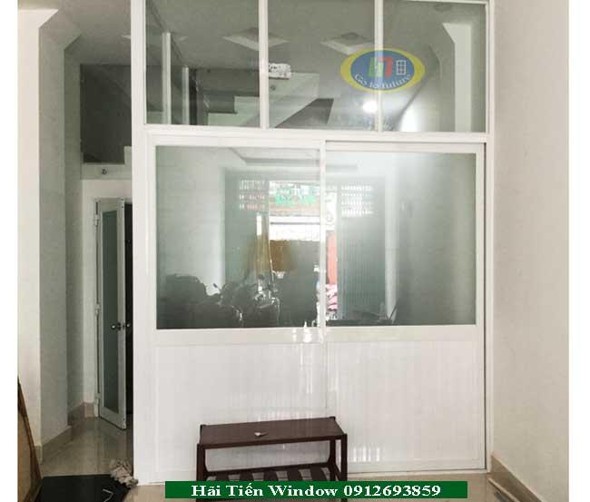 Hình ảnh thi công vách nhôm kính cho khách hàng