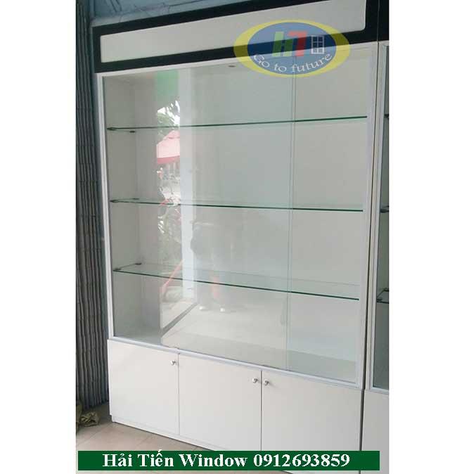 Tủ kính bán hàng mỹ phẩm giá rẻ