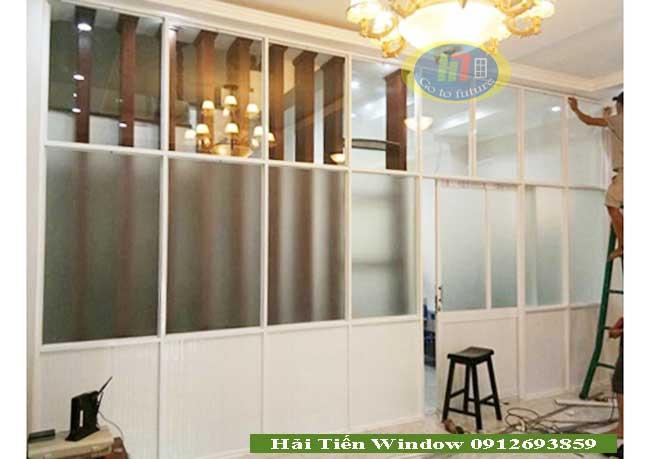 Vách ngăn nhôm kính phòng ngủ đẹp và sang trọng