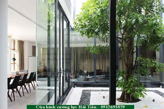 Tạo không gian xanh hòan hảo trong ngôi nhà bằng sử dụng giếng trời