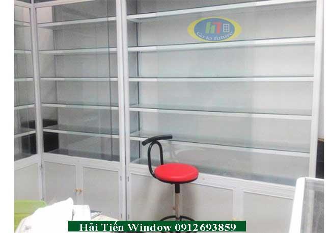 Thiết kế thi công lắp đặt tủ khung nhôm kính bày bán hàng, trưng bày