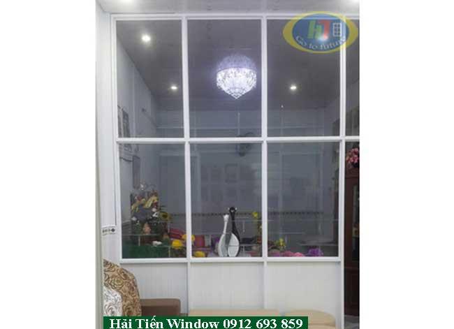 Vách nhôm kính ngăn phòng khách tại Văn Quán, Hà Đông